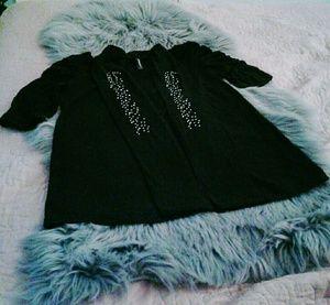 5/$13 black embellished cardigan